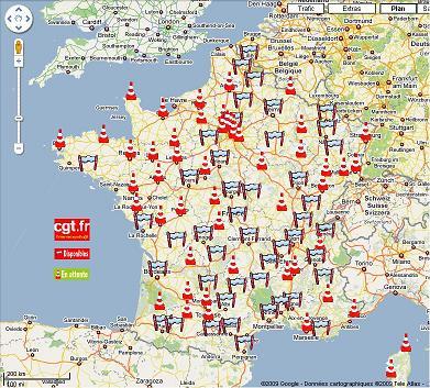 carte des manifestations